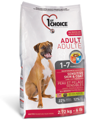1st Choice Adult All Breeds Sensitive skin&coat 2,72 кг