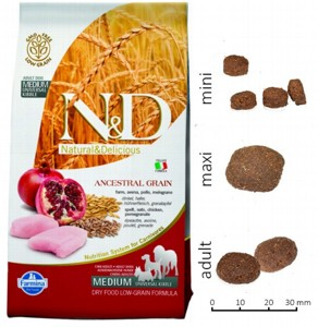Farmina N&D Low Grain Dog Chicken & Pomegranate Adult 800гр