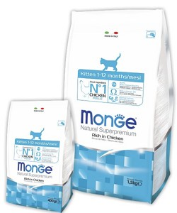 Monge Superpremium Kitten 400гр
