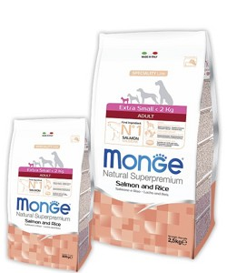 Monge Speciality Line Extra Small adult salmone And Rice 2,5кг