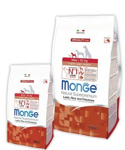 Monge Speciality Line Mini Puppy lamb, Rice And Potatoes 2,5кг